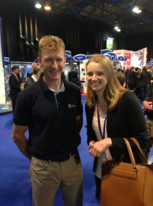 Gemma meets Major Tim Peake (ESA astronaut)
