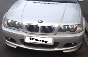 BMW: A monolithic brand. Shown here on the IPcopy news wagon
