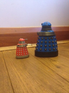 """A Dalek may not injure a Timelord or, through inaction, cause a Timelord to come to harm ! Son, we need to have a serious chat"""