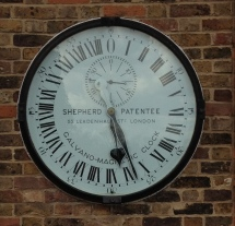 Greenwich Clock - marked with reference to patentee but lacking a patent number